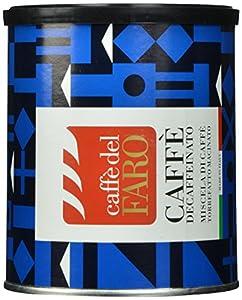 Caffe' del Faro Ground Coffee, Decaffeinated, 8.8 Ounce