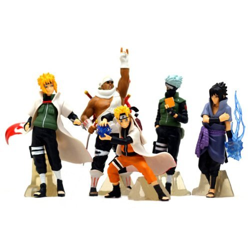 Lujex NARUTO Uzumaki Kakashi SASUKE PVC Figure Set Of 5 Pcs (Naruto Figures compare prices)