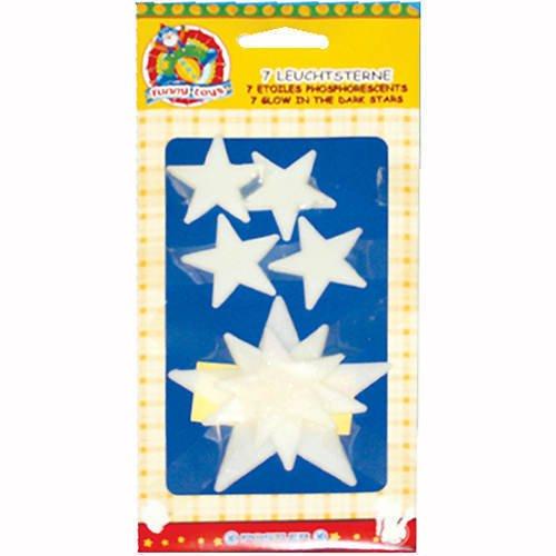 Sticker Sterne, nachtleuchtend, 3,5-7,5cm, 7 Stk.