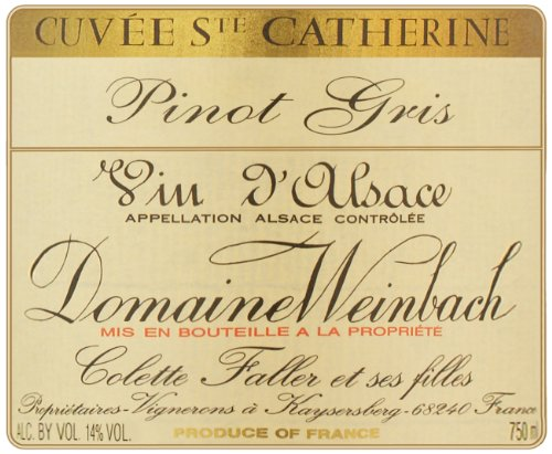 2003 Weinbach Cuvee St Catherine Pinot Gris, Alsace 750 Ml