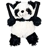 BackPet Plush Animal Backpack - Panda Black/White