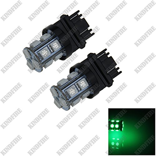 Kindfire 2pcs 3156 3157 13-SMD 5050 LED Turn Signal Rear Light Brake Bulb Lamp F002(8 Color) (Green) (Green Led Brake Lights compare prices)