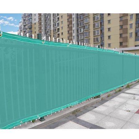 Fence screen windscreen 4 39 tall privacy mesh fabric slat for Garden screening fabric