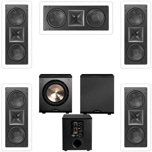 Klipsch Kl-6502-Thx 5.1 In-Wall Lcr Speaker System-Free Pl-200