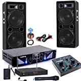 3000W PA Party Musik Anlage Boxen MP3 USB SD Endstufe Mixer Funk Mikro DJ-Blue 6