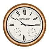 Luster Leaf 20058 Mollington Clock with Thermometer and Hygrometer