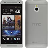 PhoneNatic Slimcase HTC One Mini - Grey - protective case + 2x screen protector