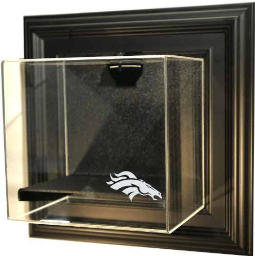 "Nfl Denver Broncos Mini-Helmet ""Case-Up"" Display Case, Black"
