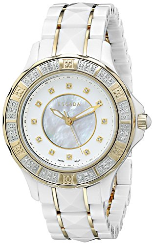 Escada-Womens-IWW-E4165042-Adriana-Analog-Display-Swiss-Quartz-White-Watch