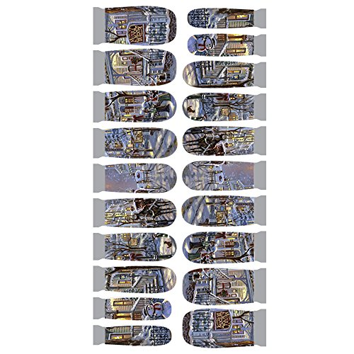 Winstonia Designer Nail Wrap - Snowy Street (Nail Heater compare prices)