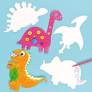 Amazon Com Dinosaur Card Art Amp Craft Shapes 5 Assorted