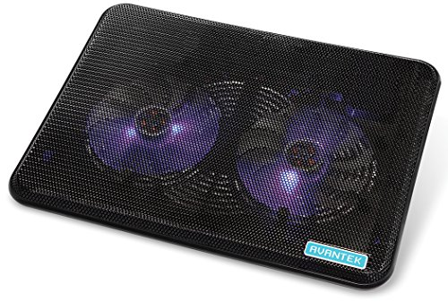 Avantek 15'' Laptop Notebook Cooling Pad Chill Mat With Dual 140Mm Blue Led Fans