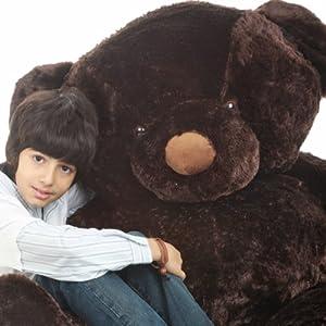 """Munchkin Chubs 65"""" Big, Cuddly & Life Size, Dark Brown, Giant Teddy Plush Bear, by Teddy Bear"""