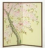 【肉筆美術屏風】三尺二曲 「桜」