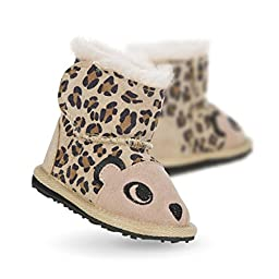 EMU Australia Cheetah Walker Little Creatures Boot (Infant/Toddler), Sand, 6-12 Months M US Infant
