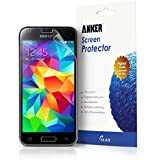 Anker® Screen Protector for Samsung Galaxy S5 Mini [3-pack] Xtreme Scratch Defender Crystal-Clear High-Response Premium with Lifetime Warranty