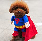 DELICOL Cute Superman Pet Costume Superhero Dog Cat (S)
