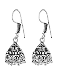 Ganapathy Gems White Metal Jhumki Earings For Women - White