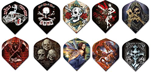 Best Buy! Alchemy Standard Dart Flights 3 Sets of Standard Size Different Designs Available - Skulls...