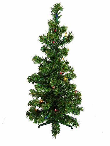 2' Pre-Lit Artificial Table Top Christmas Tree