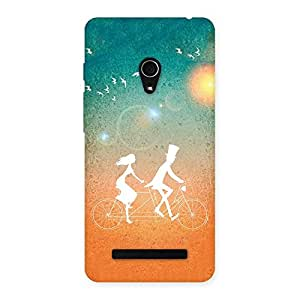 Cute Cycle Couple Dream Multicolor Back Case Cover for Zenfone 5