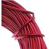 Aluminum Craft Wire 12 Gauge 39 Feet RED 42612