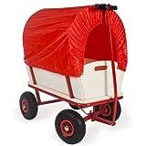 TecTake carro de mano Carretilla de transporte Carretilla de jard�n con cubierta de lona
