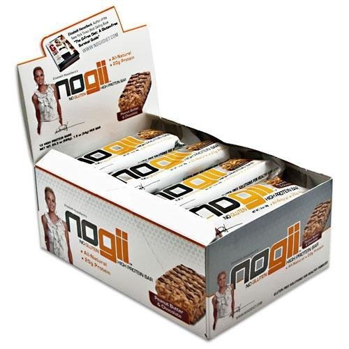 Elisabeth Hasselbeck's NoGii High Protein Bar Peanut Butter and Chocolate -- 12 Bars