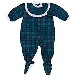 Blackwatch Classic Christmas Footed Pajama for Baby Girls 24Months