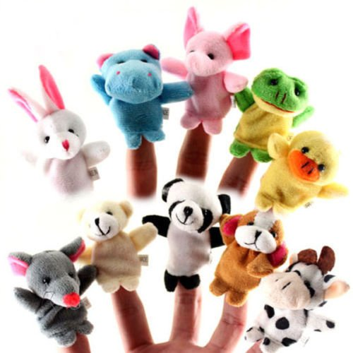 10x-Family-Finger-Puppets-Cloth-Doll-Baby-Educational-Hand-Cartoon-Animal-Toy