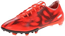 adidas Performance Men\'s F10 Firm-Ground Soccer Cleat, Solar Red/White/Core Black, 9 M US