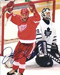 Dino Ciccarelli Autographed Detroit Red Wings 8x10 Photo