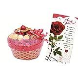 Skylofts Lovely Chocolate Basket With A Cute Teddy & A Love Card