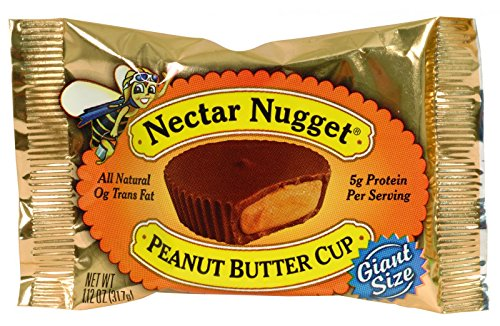 Natural Nectar Nugget Cups - Peanut Butter - 1.12 Oz - Case Of 24