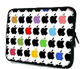 ノートPC Mac タブレット iPad 防水 インナー ケース スリーブ Apple りんご リンゴ柄 バッグ (13inch(32.5cm×24.5cm×2cm))