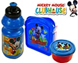 Disney Mickey Mouse Clubhouse Lunch Set (Water Bottle, Snack Container & Sandwich Box)