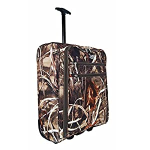 More4bagz Super Lightweight Cabin Approved Hand Luggage Travel Holdall Wheeled Suitcase Backpack Rucksack Bag fits Easyjet, Ryanair, BMI, Flybe & Many More - 1.4kg - 40 Litres (1 Peice, Camouflage)