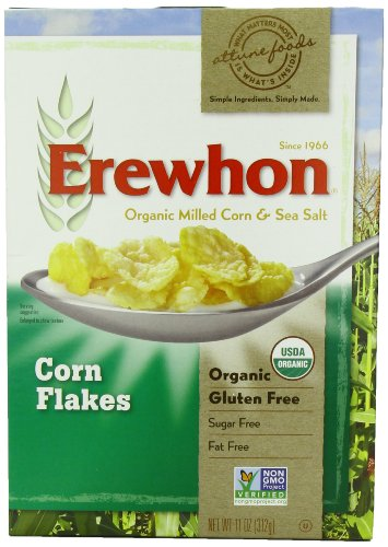 Erewhon Corn Flakes Cereal, Gluten Free, Organic, 11-Ounce Boxes (Pack of 6) (Erewhon Gluten Free Corn Flakes compare prices)