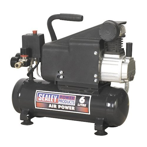 Sealey SAC0610E Compressor Direct Drive, 1 hp, 6 Liter