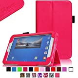 Fintie Folio Classic Leather Case for Samsung Galaxy Tab 3 7.0 inch Tablet - Magenta