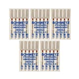 25 Schmetz Assorted Embroidery Sewing Machine Needles 130/705H H-E Size 75/11 and 90/14 (Original Version) (Original Version) (Color: Limited Edition)