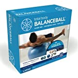 Gaiam Large-Total Body Balanceball Kit (75Cm/Blue)