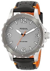 Fossil Men's JR1449 Nate Analog Display Analog Quartz Black Watch