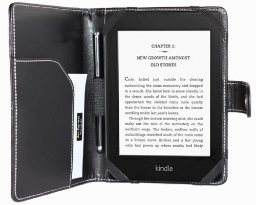 amCase(TM) high quality leather case and cover for Newest Kindle, Kindle Paperwhite and Kindle Paperwhite 3G.