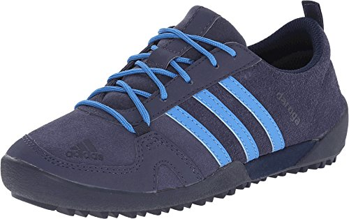 adidas Outdoor Kids Boy's Daroga Leather (Little Kid/Big Kid) Midnight Grey/Super Blue/Black Sneaker 2 Little Kid M