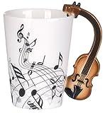 VENKON - Musik Keramiktasse mit Violine / Geige als Henkel...