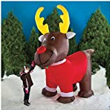 Oversized 10 Ft. Inflatable Reindeer ~ LED Lighted & Moving