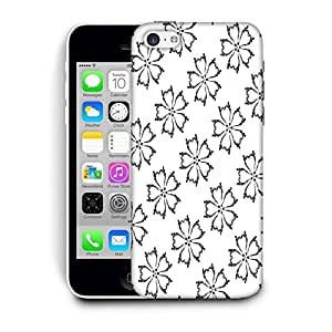 Snoogg Grey Floral White Printed Protective Phone Back Case Cover For Apple Iphone 6 / 6S