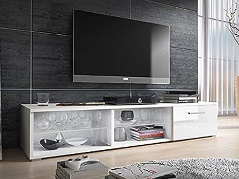 Muebles Bonitos - Mueble TV modelo Lidia blanco (1,5 m)