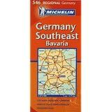 Michelin Map Germany Southeast 546 (Maps/Regional (Michelin)) ~ Michelin